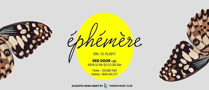 Éphémère - Acoustic Music Night
